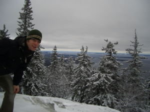 The famous Finnish landscape from the top of Koli.