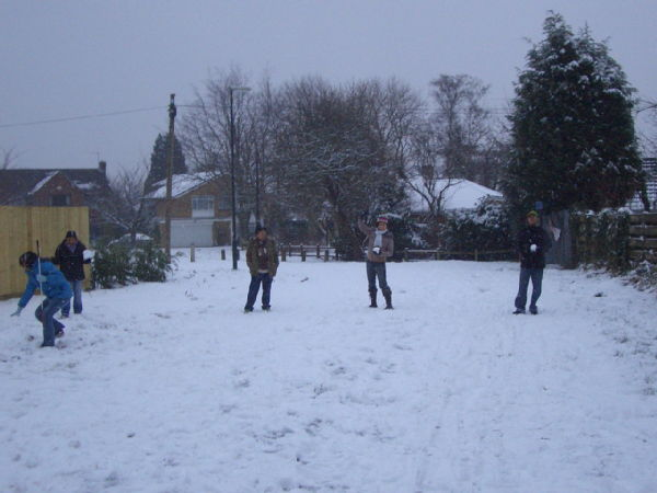 Warwick in snow 5
