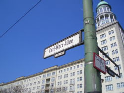 [35] Originally 'Stalin Street' and the start of East Berlin