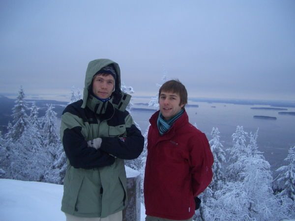 At the top of Koli