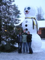 [21] Big snowmen at Santa's place (built by elves)