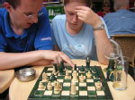 GM Lucinda Critchley in action (with Dave looking on)