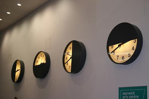Clocks in the Arts Centre