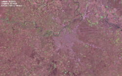 satelite view of the city