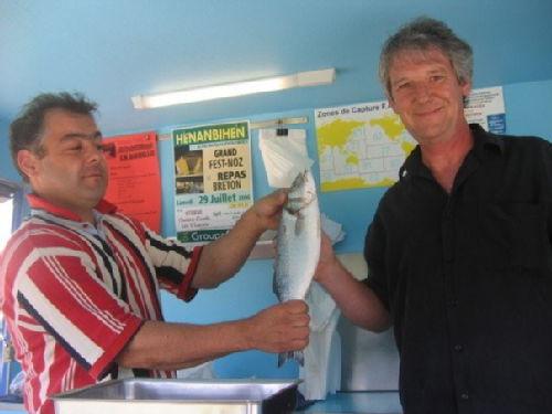 alan with fish van man