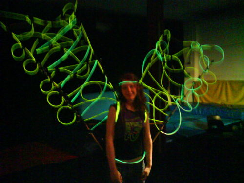 Glow sticks sculpture