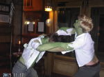 The Hulk fighting...the Hulk?? Actually it's only Dan and Will!!