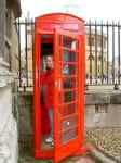 A red phone booth!