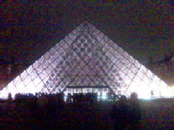 The pyramid at the Louvres