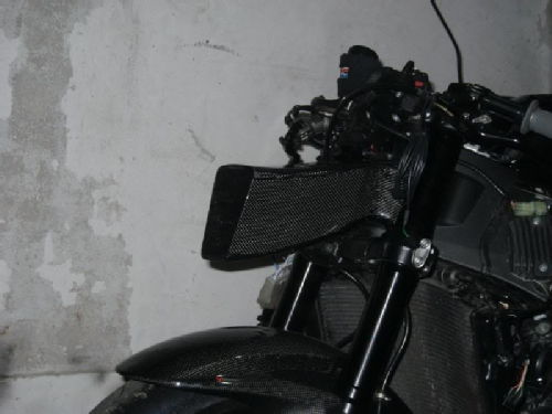 Air intake on the front of motorcycle