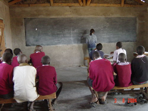 Teaching at Sekenani Primary School