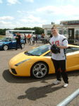 Me with Lambo before the laps