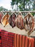 Masai shields and blankets