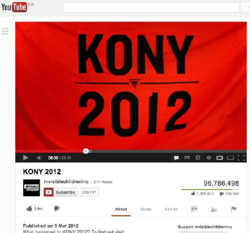 kony 2012 research paper There is simply no doubt the story of kony has been well documented the kony 2012 video that went the latest research suggests it accounts for one of every six minutes spent online.