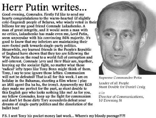 Putin Writes...