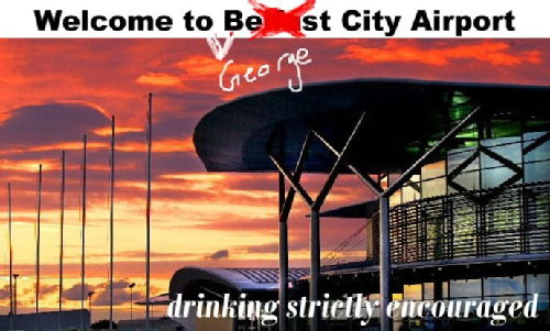 George Best City Airport Postcard
