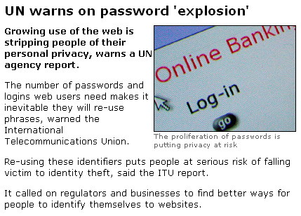 United Nations password explosion