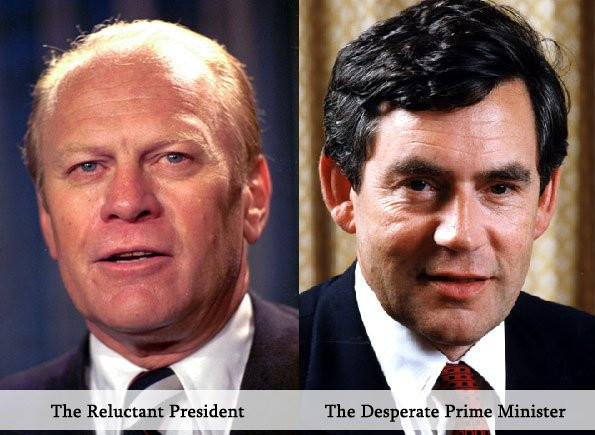 Gordon Brown and Gerald Ford