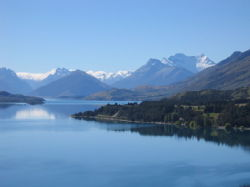 View towards Glenorchy from Queenstown