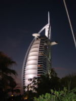 Burj Al Arab after sunset