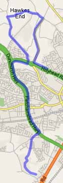 Cycle route for work - detour