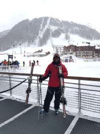 ski trip solo pic