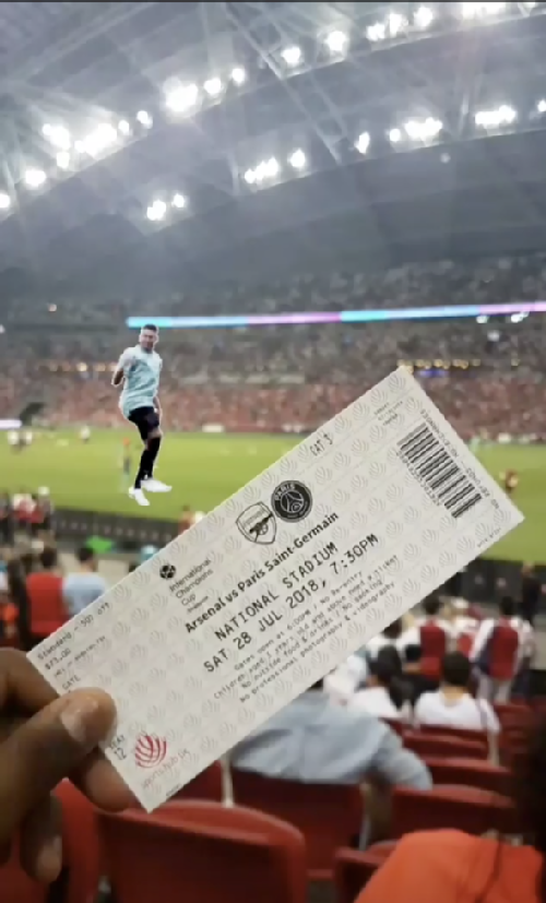 Tickets to the Arsenal vs PSG match!