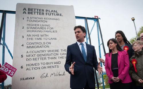 Ed Miliband unveiling the