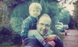 Grandad and me when I was young