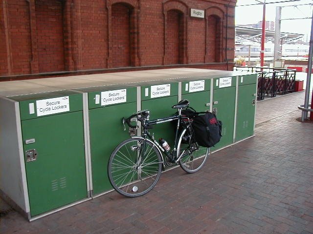 Secure cycle storage at Rugby Railway Station