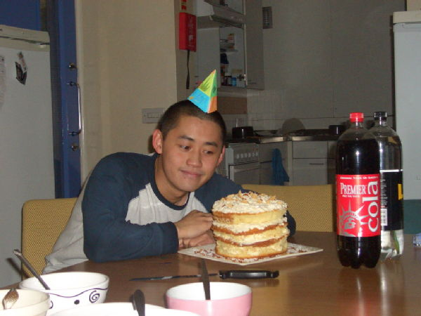 Tom and his 19th Birthday Cake