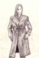 A woman in a trenchcoat