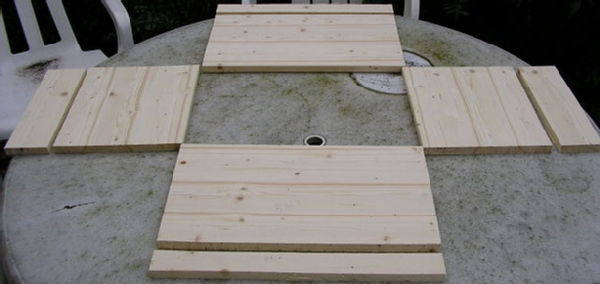 The basic pieces of wood needed for the sides of the box