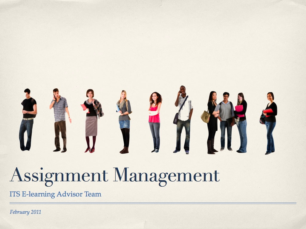 slides from our presentation on a potential assignment management intro slide what is assignment management
