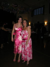 Me and Emma in our jazzy pink dresses