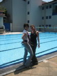 Me and Anna infront of OSC pool