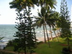 View of Mt Lavinia beach from our hotel window