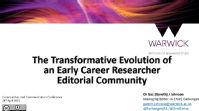 Title slide of conference presentation