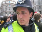 kettled in threadneedle by our friendly neighbourhood policeman. his name is ryan.