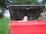 Oh yes- Tara in a bin!