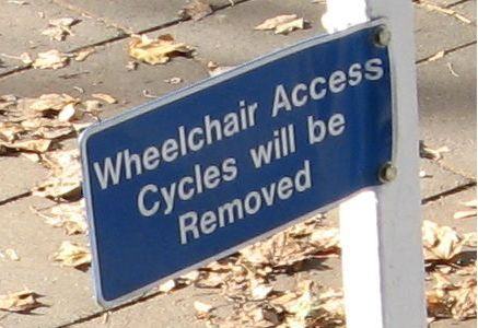 Wheelchair access cycles will be removed