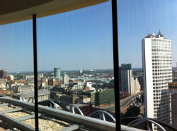 Birmingham Central Library - panoramic terrace