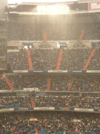 Bernabeu in the rain