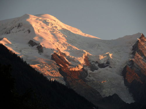 Mt Blanc at sunset
