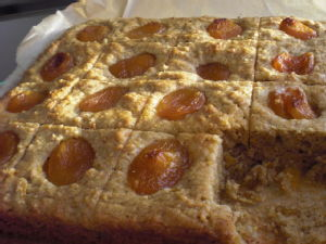 baked butternut squash and apricot cake