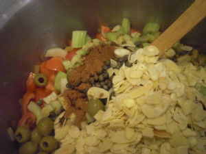 adding everything else caponata