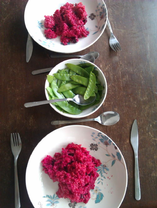 Very pink risotto