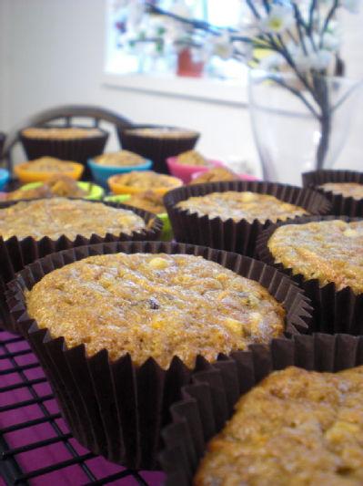 carrot, sultana, pinenut muffins