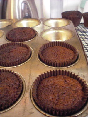 chocolate beetroot muffins 1