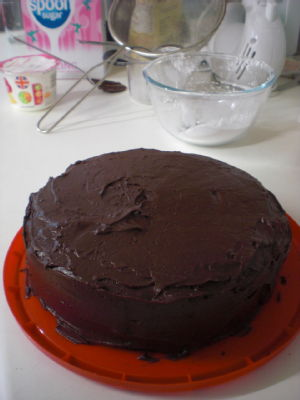 iced chocolate beetroot cake
